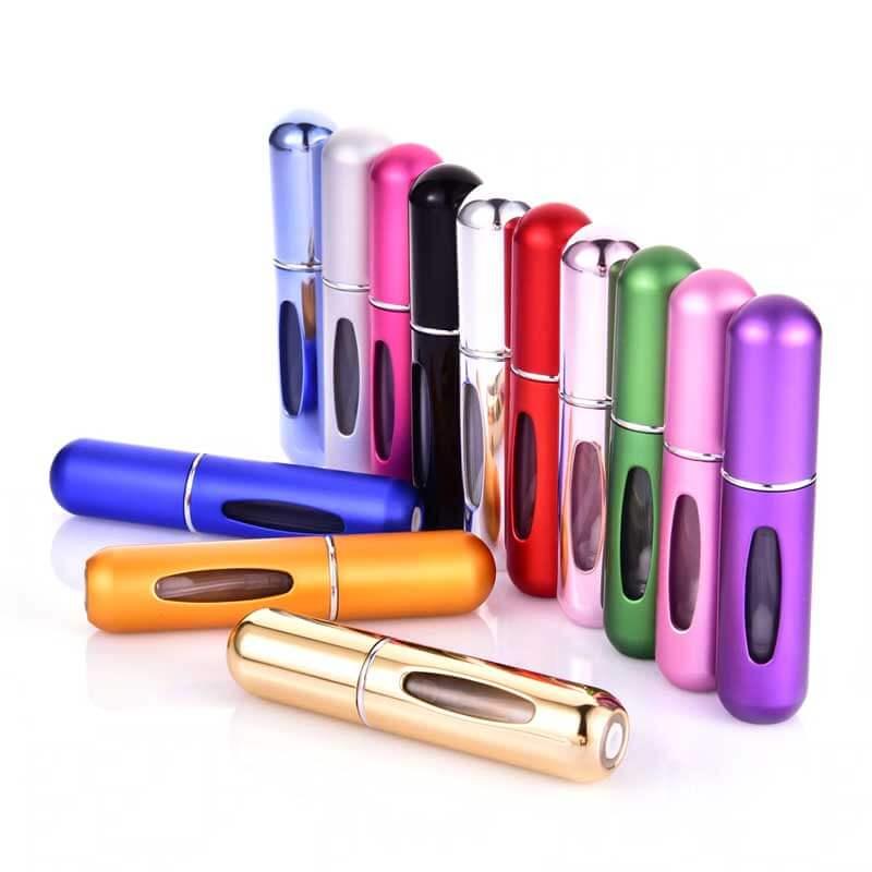 5 Pack handbagevänlig parfymflaska i valfria färger Prylio.se